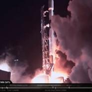 اسپیس ایکس فالکون 9 را با سه فضاپیما به فضا فرستاد