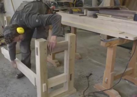 ویدئو :  ساخت میز کار نجاری