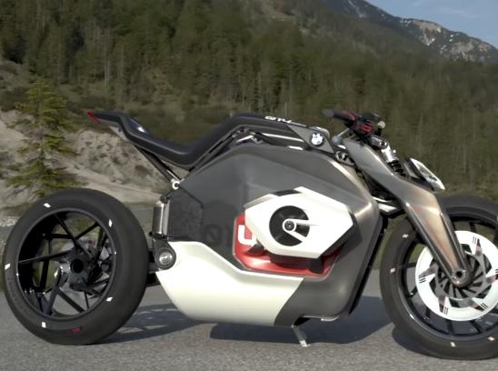 ویدئو :  موتورسیکلت مفهومی برقی بی ام و BMW Vision DC Roadster Concept 2019