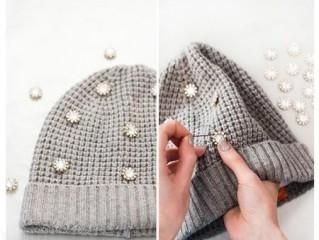 آموزش تصویری از زیبا کردن کلاه پشمی در زمستان