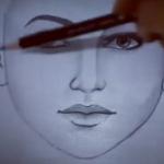ویدئو :  آموزش نقاشی چهره سیاه و سفید