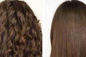 10 راه صاف کردن مو به روش گیاهی