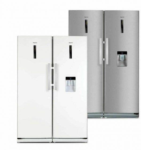یخچال فریزر دوقلو آبریز دار مجیک شف مدل MCSRY-60180