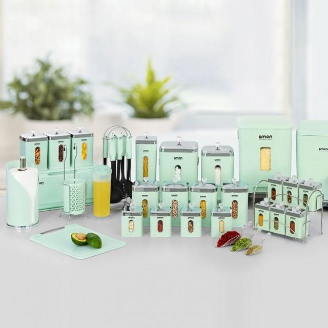 سرویس آشپزخانه  36 پارچه لیمون -چهار گوش درب شفاف