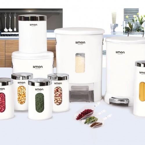 سرویس آشپزخانه 9 پارچه لیمون مدل گرد درب شفاف