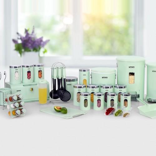 سرویس آشپزخانه  36 پارچه لیمون -گرد درب شفاف