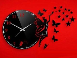 ساعت دیواری فانتزی فرشته نگیندار