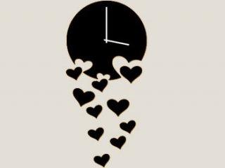 ساعت دیواری طرح قلب