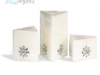 ست شمع گل هشت پر مثلث