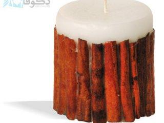 فروش شمع ساده با طرح چوب دارچین