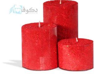 فروش شمع قرمز فانتزی استوانه