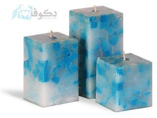 ست شمع یخی مکعب آبی