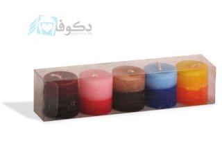 شمع استوانه 5 عددی دو رنگ