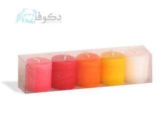 شمع های تک رنگ مدل استوانه 5 عدد