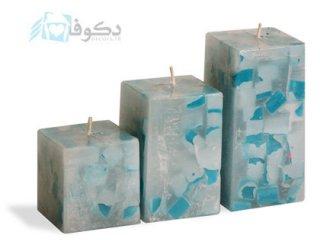 شمع آبی مدل چهل تیکه