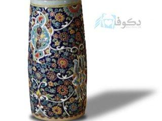 گلدان استوانه ای سفالی