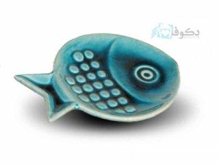 بشقاب سفالی طرح ماهی