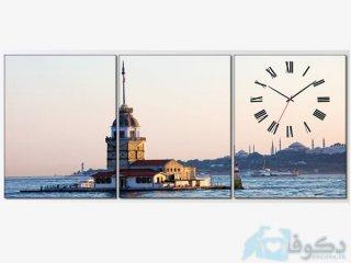ساعت دیواری سه تیکه فانوس دریایی