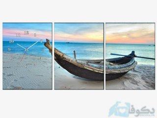 ساعت دیواری سه تیکه مدل ساحل
