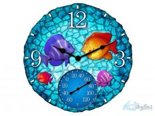 ساعت دیواری مدل حوض ماهی