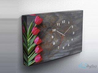 ساعت دیواری تابلوای طرح لاله