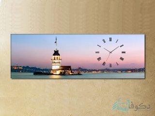 ساعت دیواری تابلوای طرح فانوس دریایی 2
