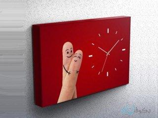 ساعت دیواری تابلوای طرح انگشتی 1