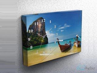 ساعت دیواری تابلوای طرح قایق 3
