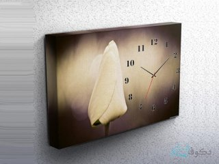 ساعت دیواری تابلوای طرح شقایق