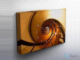 ساعت دیواری تابلوای طرح مارپیچ