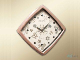 ساعت دیواری regal مدل پروانه صورتی