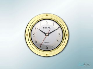 ساعت دیواری regal کلاسیک زرد