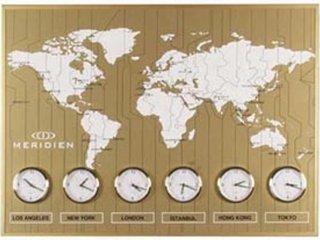 ساعت دیواری Meridien طلایی