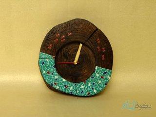 ساعت رومیزی چوبی حوض آبی