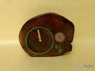 ساعت رومیزی چوبی قاصدک
