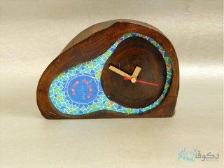 ساعت رومیزی چوبی گردون