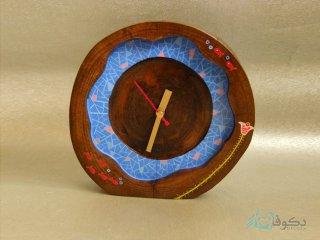 ساعت رومیزی چوبی گلبرگ