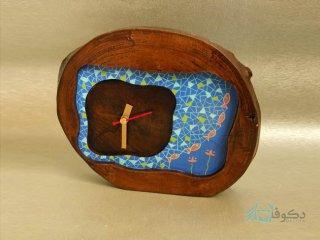 ساعت رومیزی چوبی پولکی ها