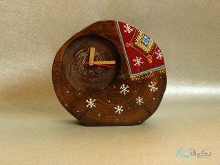 ساعت رومیزی چوبی برف دونه