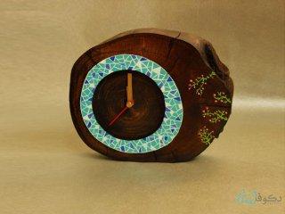 ساعت رومیزی چوبی بهاران