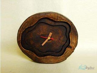 ساعت رومیزی چوبی برکه