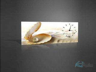 ساعت دیواری تابلوای صدف