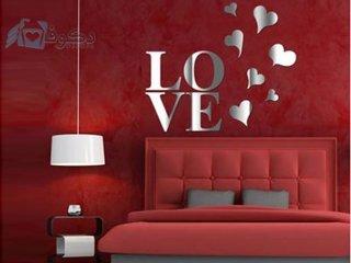 آینه فانتزی طرح قلب و love