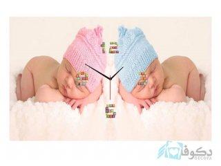 ساعت دیواری تابلوای طرح نوزاد