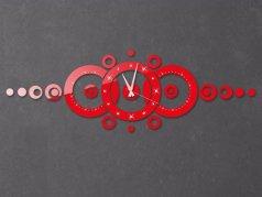 ساعت دیواری فانتزی منظومه نگیندار قرمز
