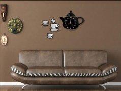 ساعت دیواری فانتزی طرح فنجان