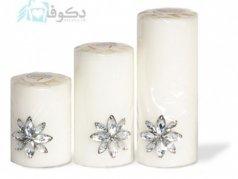 فروش شمع گل هشت پر استوانه