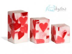 شمع تزئینی مدل پست مدرن قلب