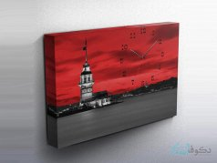 ساعت دیواری تابلوای طرح فانوس دریایی