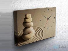 ساعت دیواری تابلوای طرح سنگ